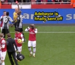 Webb Sends Off Adebayor Frame 11