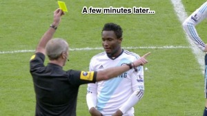 Martin Atkinson Deals With Mikel's Dissent Frame 6